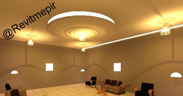 آموزش ایجاد نورمخفی و نورپردازی Revit Architecture 2017